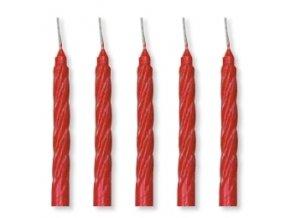 Dortové svíčky Modecor 100 ks - červené