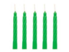 Dortové svíčky Modecor 100 ks - zelené