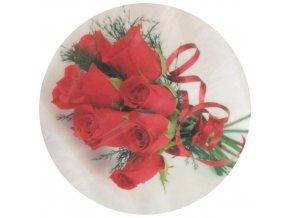 Jedlý papír E - kytice růží