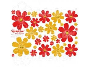 Květiny z jedlého papíru 30 ks - MIX02