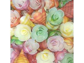 Dortové růže FR RPI03 mix - balení 30 ks