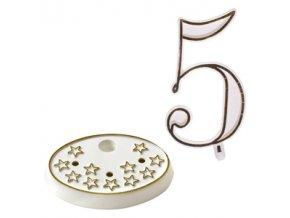 Číslice na dort s podstavcem - 5