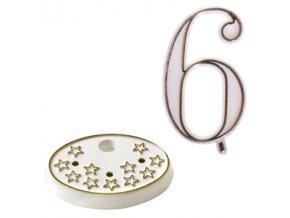Číslice na dort s podstavcem - 6