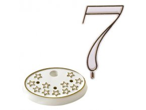 Číslice na dort s podstavcem - 7