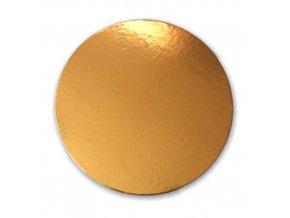 Zlatá podložka SILNĚJŠÍ - hladký okraj - 30 cm