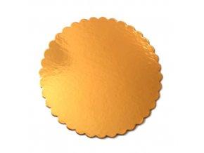 Zlatá podložka SILNĚJŠÍ - vlnitý okraj - 24 cm