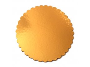 Zlatá podložka SILNĚJŠÍ - vlnitý okraj - 28 cm