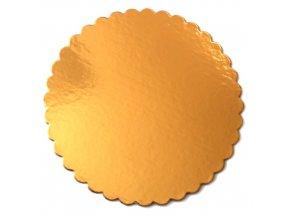 Zlatá podložka SILNĚJŠÍ - vlnitý okraj - 30 cm