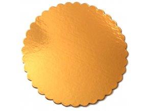 Zlatá podložka SILNĚJŠÍ - vlnitý okraj - 32 cm