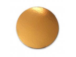 Zlatá podložka SILNĚJŠÍ - hladký okraj - 24 cm - balení 2 ks