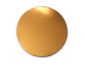 Zlatá podložka SILNĚJŠÍ - hladký okraj - 28 cm - balení 2 ks