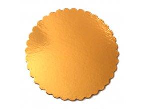 Zlatá podložka SILNĚJŠÍ - vlnitý okraj - 28 cm - balení 2 ks