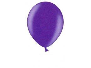 Metalické balonky 5 ks - purple