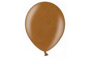Metalické balonky 5 ks - hnědé