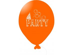 Balónky s nápisem PARTY 5 ks - oranžové