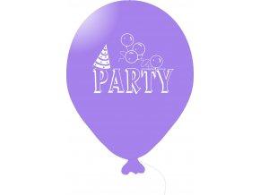 Balónky s nápisem PARTY 5 ks - fialové