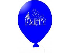 Balónky s nápisem PARTY 5 ks - modré