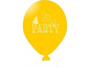 Balónky s nápisem PARTY 5 ks - žluté