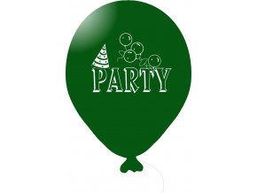 Balónky s nápisem PARTY 5 ks - tmavě zelené