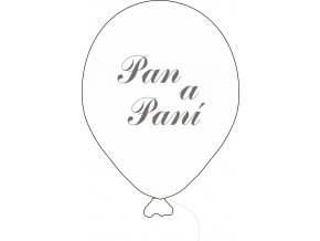 Balónky s nápisem PAN A PANÍ 5 ks - perleťové