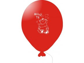 Balónky s nápisem MILUJI TĚ 5 ks - červené