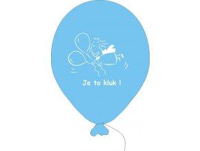 Balónky k narození chlapečka - 5 ks modré