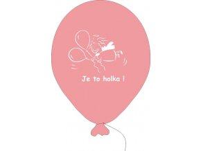 Balónky k narození holčičky - 5 ks růžové