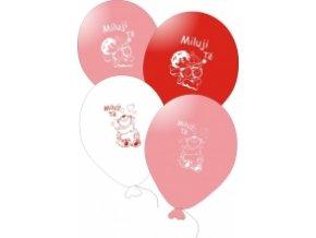 Balónky s nápisem MILUJI TĚ - MIX barev 10 ks