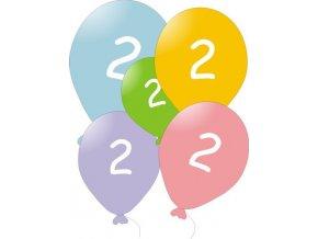 Narozeninové balónky 5 ks mix barev - číslo 2