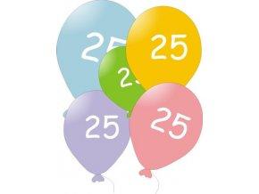 Narozeninové balónky 5 ks mix barev - číslo 25