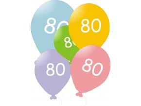 Narozeninové balónky 5 ks mix barev - číslo 80