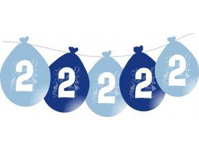 Balónky narozeninové VISÍCÍ 5 ks - modré - číslo 2