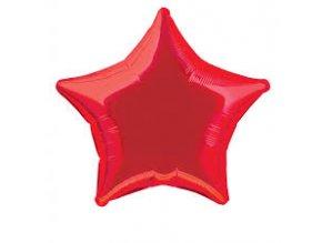 Balónek fóliový velký - hvězda červená