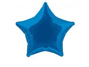 Balónek fóliový velký - hvězda modrá