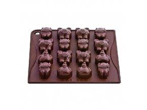 Forma na čokoládu silikonová Pavoni - Farm