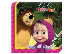 Ubrousky s potiskem - Máša a medvěd