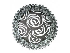 Košíčky na muffiny Culpitt - černé s růžemi (54 ks)