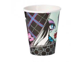 Kelímky 8 ks - Monster High - černé