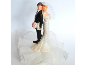 Svatební figurka na podstavci - 8113