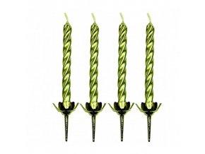 Dortové svíčky PME 10 ks - zlaté