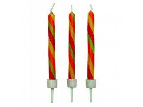 Dortové svíčky PME 10 ks - twist
