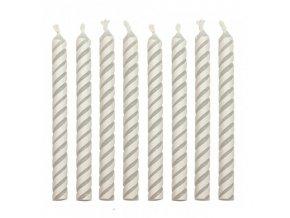Dortové svíčky PME 24 ks - bílé