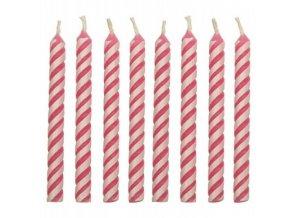 Dortové svíčky PME 24 ks - růžové