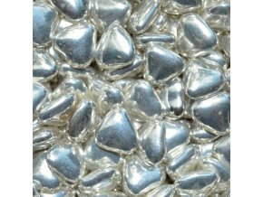 Čoko srdíčka stříbrná - balení 1 kg