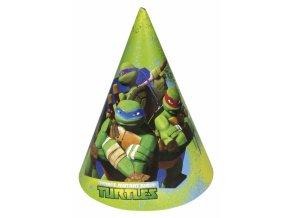 Párty čepičky 6  ks - Želvy Ninja
