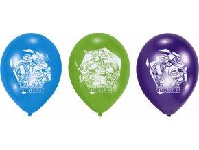 Balónky 6 ks - Želvy Ninja