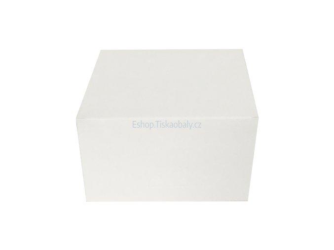 Krabice na dort bílá, skládaná, lepená, 300x300x125 mm