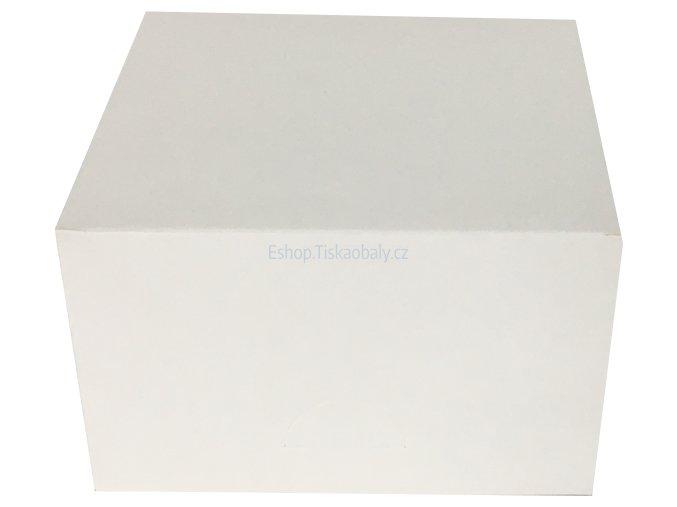 Krabice na zákusky bílá, skládaná, lepená, 130x130x70 mm