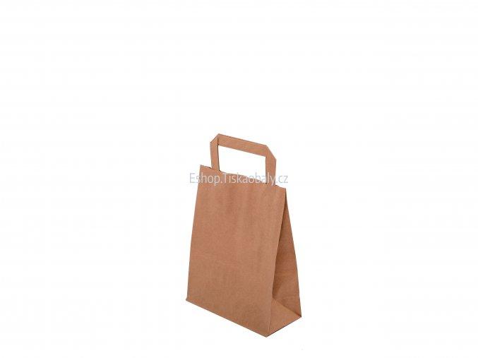 T10020 paper flat handles brown 180x80x230 1