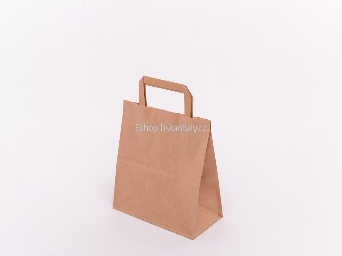 T10030 paper flat handles brown 220x110x245 1